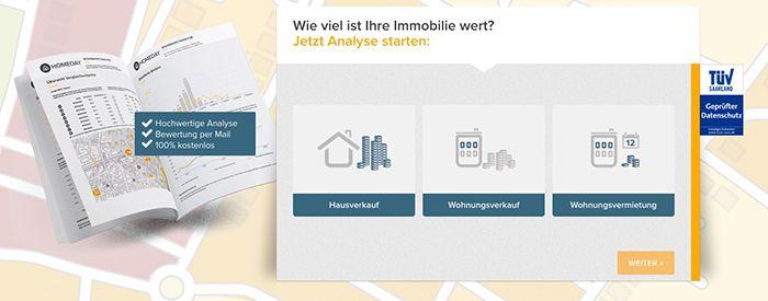 Gratis Immobilienbewertung bei Homeday
