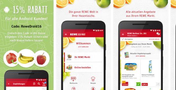 15% Rabatt beim Rewe Lieferservice   nur per Android App