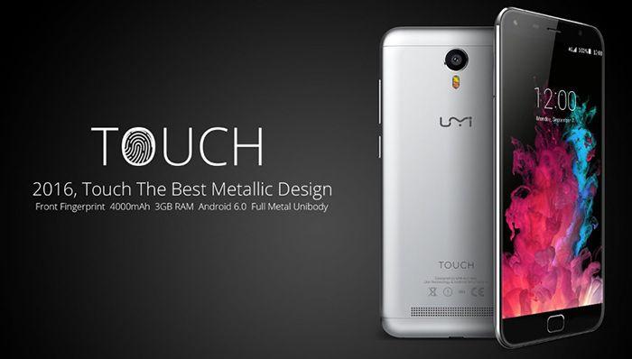 Umi Touch   5,5 Zoll Full HD Smartphone mit Fingerprint Scanner für 117€