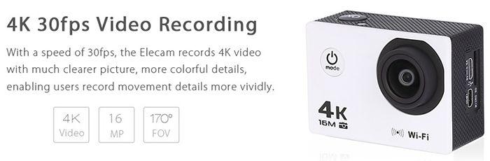 V3 4K Action Cam mit WLAN für 28,77€