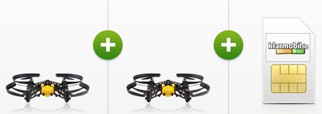 2er Pack Parrot Airborne Cargo Travis Drohnen (Wert 120€) + Vodafone Tarif für 5,95€ mtl.