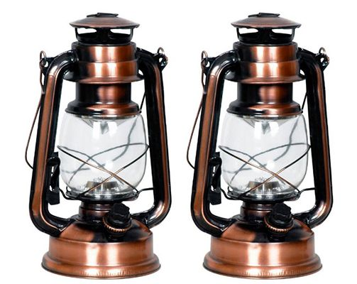 LED Campinglaterne im Kupfer Retro Style als Doppelpack für 19,90€
