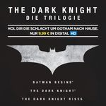 The Dark Knight Trilogie als HD Stream für 9,99€