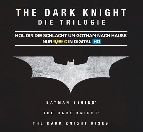 The Dark Knight Trilogie als HD Stream für 9,99€