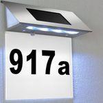 Solar LED Hausnummer-Beleuchtung für 9,95€