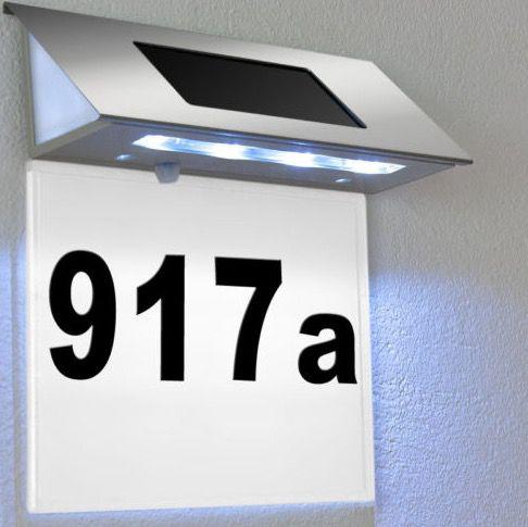 Solar LED Hausnummer Beleuchtung für 9,95€