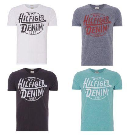 Bildschirmfoto 2016 08 31 um 08.39.25 Hilfiger Denim T Shirts mit Vintage Logoprint für 13,60€ (statt 20€)