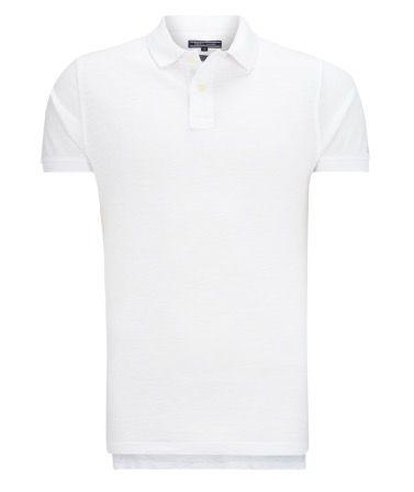 Tommy Hilfiger Poloshirt (Weiß) aus Baumwolle für 24€ (statt 35€)