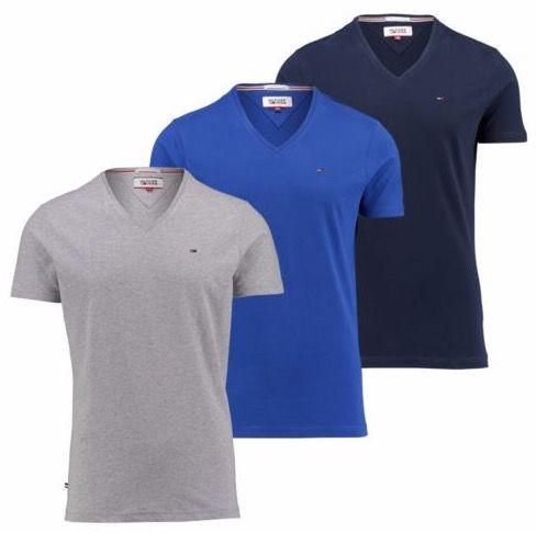 Tommy Hilfiger Herren T Shirt mit gesticktem Logo für 24,90€
