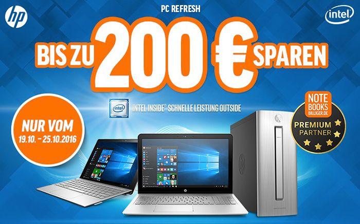 Bildschirmfoto 2016 10 19 um 09.03.49 Bis zu 200€ Rabatt auf ausgewählte HP Notebooks & PC Systeme