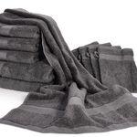 10er Set Dusch-/Handtücher aus 100% Baumwolle für 22,99€