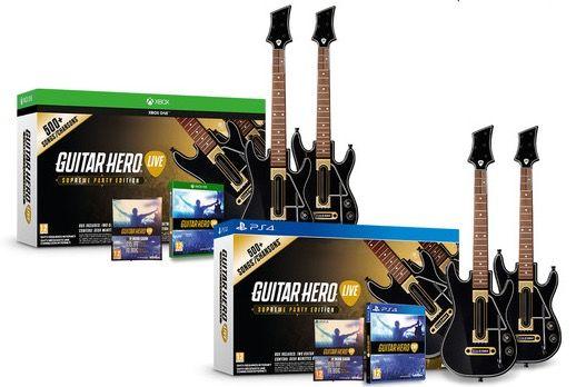 Guitar Hero Live: 2 Gitarren Bundle (PS4 / Xbox One) + 20€ Gutschein für 43,90€ (statt 60€)