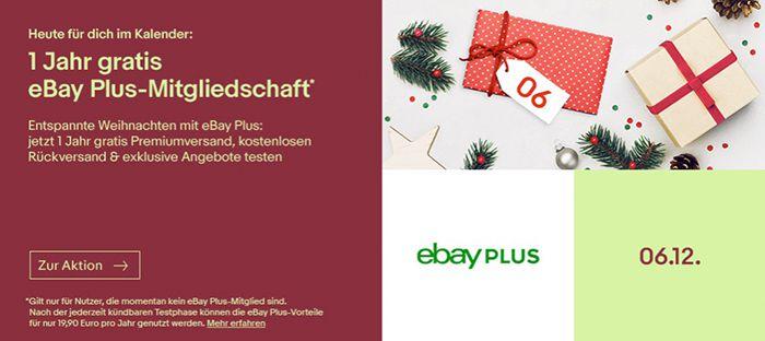 1 Jahr eBay Plus Mitgliedschaft gratis   nur Neukunden
