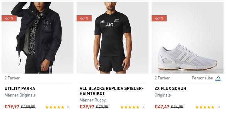 adidas Sale mit bis zu 50% Rabatt + VSK frei ab 50€