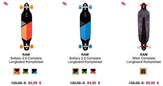 TOP! 20% auf Longboards und Roller   z.B. Madrid Dream 39 Billboard Standard für 132€ (statt 149€)