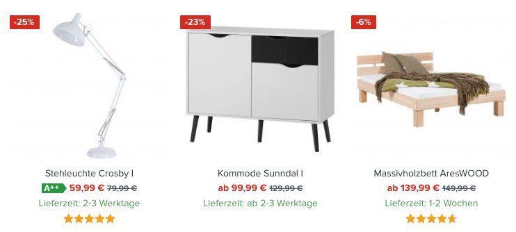 Bis Mitternacht: Lagerräumung bei Home24 mit bis 55% + 25% Extra   z.B. 5 teiliges Lounge Set 300€