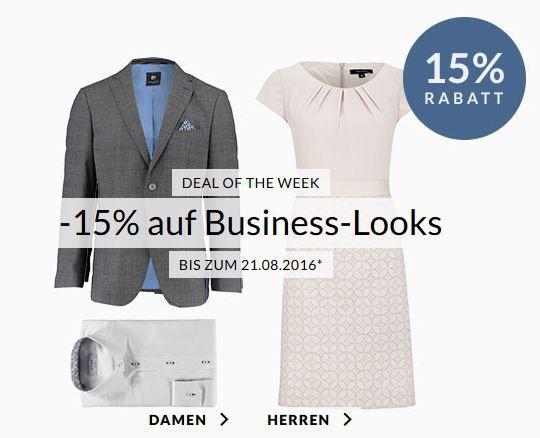 Business Fashion Sale Engelhorn mit 15% auf Business Looks   z.B. günstige Marken Herren Hemden schon ab 24,95€