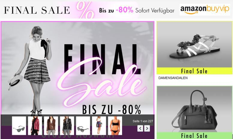 BuyVip Final Sale Amazon BuyVip mit Sommer Final Sale   Fashion und Accessoire mit bis zu 80% Rabatt