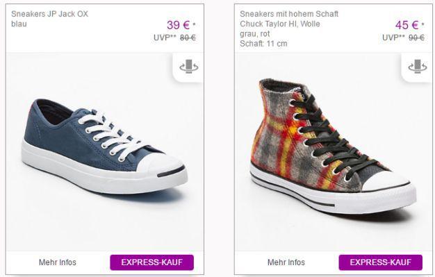 Converse 2 Converse Sale mit bis zu 65% Rabatt bei Vente Privee