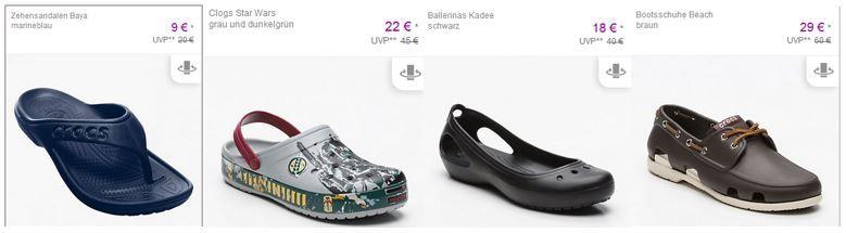 Crogs im Sale Crocs bei Vente Privee   z.B. Zehensandalen Baya ab 9€