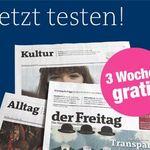 """3 Wochen """"Der Freitag"""" kostenlos – Kündigung notwendig"""