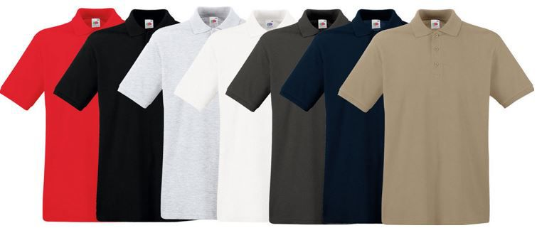 FotL Polo shirts Fruit of the Loom Herren Poloshirts für je 8,99€