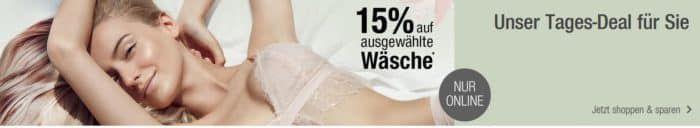 Galeria Kaufhof Dienstag Angebote: heute 15% Rabatt auf ausgewählte Damen und Kinder Tages  Nachtwäsche & Strümpfe
