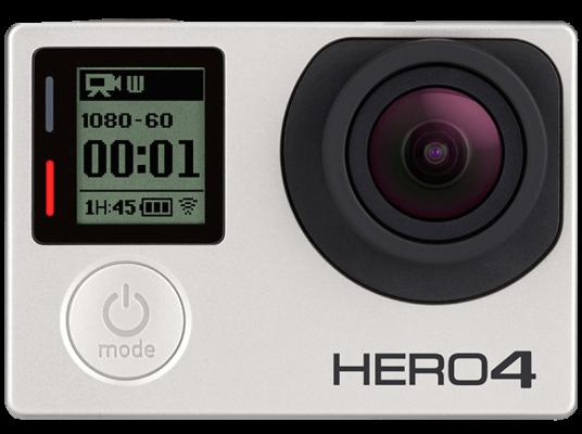 GOPRO Hero4 Silver Adventure Actioncam WLAN Silber Schwarz e1474100541670 GoPro HERO4 Silver 4K Actioncam ab 299€ (statt 357€)