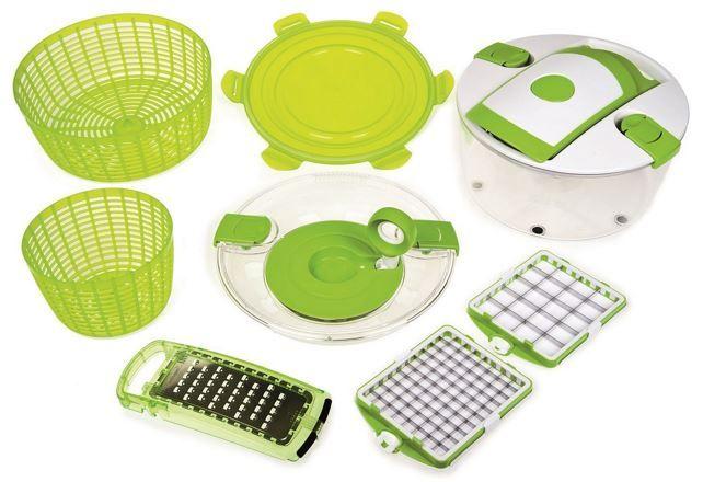 Genius Salat Chef Junior   10 teiliger Gemüseschneider für 27,90€