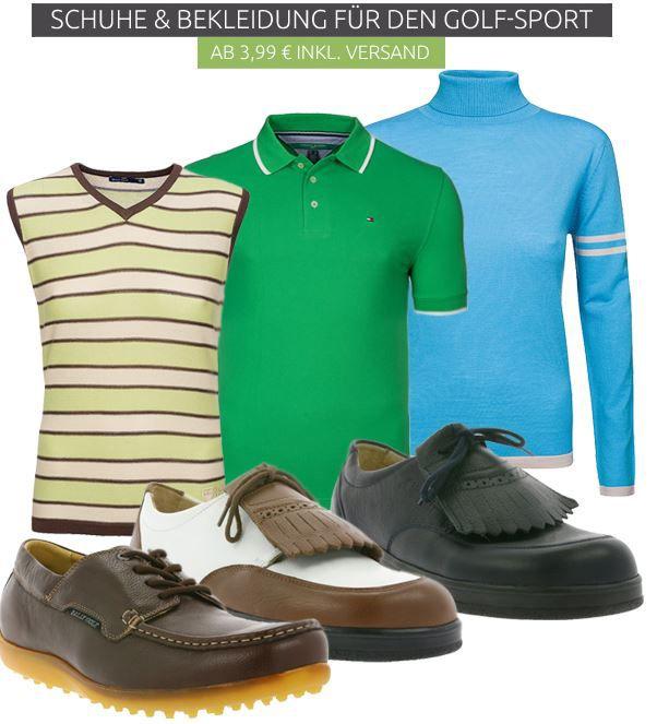 Schuhe und Bekleidung für den Golf Sport ab 3,99€