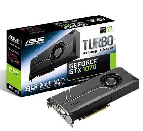 Asus TURBO GTX1070 8G   Grafikkarte + 20€ Gutschein + BioShock Triple Pack für 449€