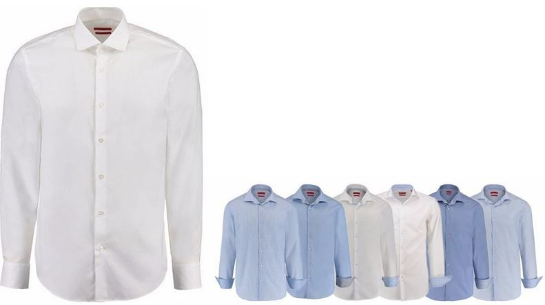 HUGO Herren Businesshemd Regular + SlimFit für je 39,90€