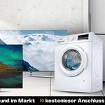 Kostenfreie Lieferung für alle Produkte + Anschluss von Haushaltsgroßgeräten und TVs bei Saturn
