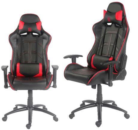 LC Power Gaming Schreibtischstuhl in schwarz / rot für 179,96€