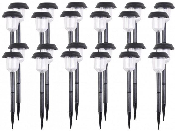 LED Garten Solar Strahler Bundle LED Solarleuchte   Gartenbeleuchtung je 39 cm im 24er Set für nur 17,95€