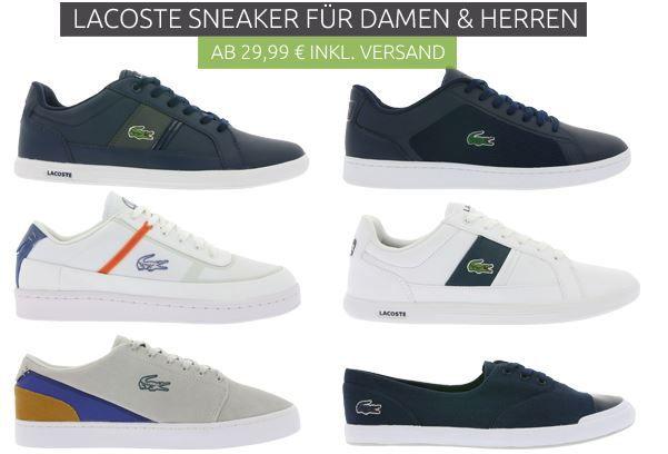 Lacoste Damen und Herren Sneaker ab 29,99€