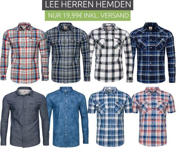 Lee Hemden Sale Lee   Herren Hemden für nur 19,99€ (statt 28€)