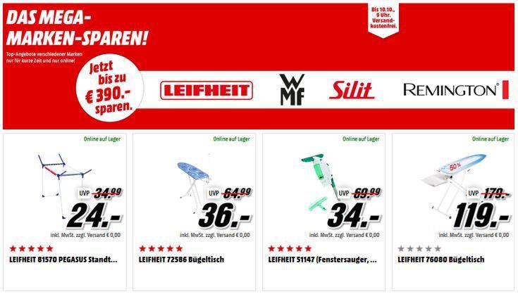 Leifheit sale Media Markt Mega Marken Sparen Haushaltsartikel: z.B. WMF Kult Pro Standmixer 111€