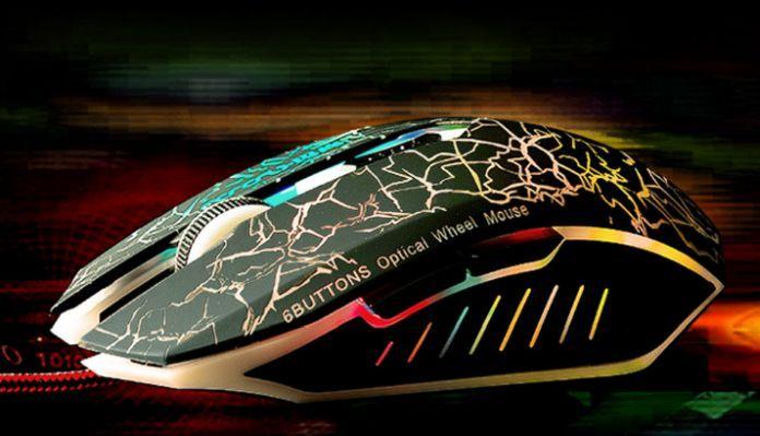 Gaming Maus (2.400 DPI, 6 Tasten, LED Beleuchtung) für nur 1€