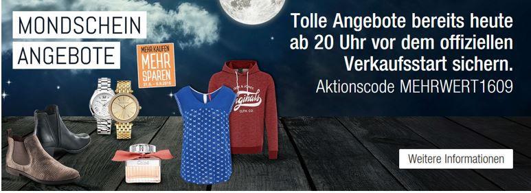 Mehrwert1609 Super Pre Sale mit 20% Extra Rabatt in den Galeria Kaufhof Mondschein Angeboten