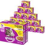 Whiskas Katzenfutter 1+ Geflügelauswahl in Gelee Mega Multipack 19,2kg für 38,99€
