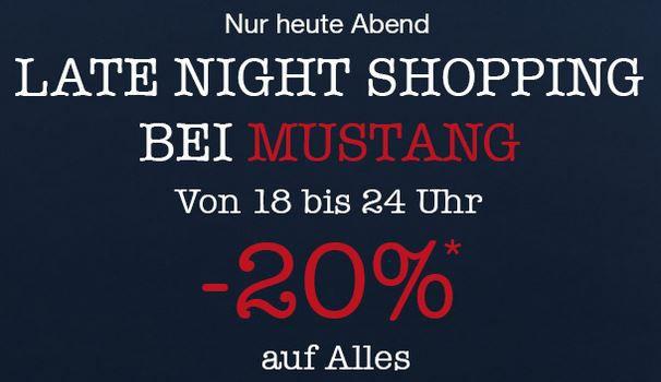 Mustang Late night Mustang mit 60% Rabatt im Sale + 20% Extra Rabatt auf Alles + VSK frei