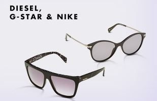 Nike Brillen Diesel, G Star & Nike Sonnnbrillen mit bis zu 65% Rabatt