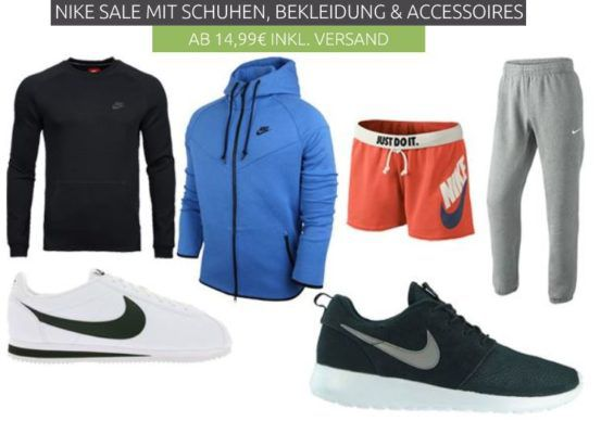 NIKE Sneaker & Fashion Sale   coole Marken Kleidung ab 14,99€