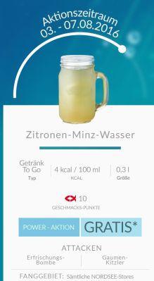 Nordsee: Gratis Zitronen Minz Wasser für alle Pokemon Go Spieler