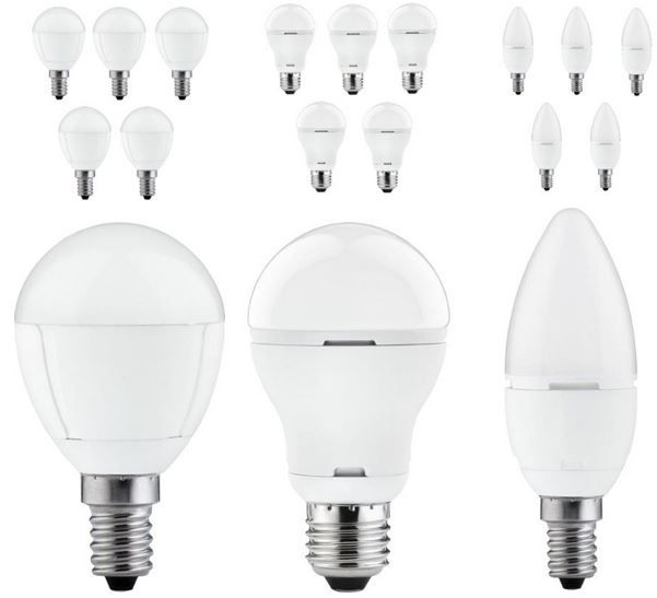 Paulmann LED Leuchtmittel 6er Pack Paulmann LED Leuchtmittel versch. Typen E14/27 für 16,99