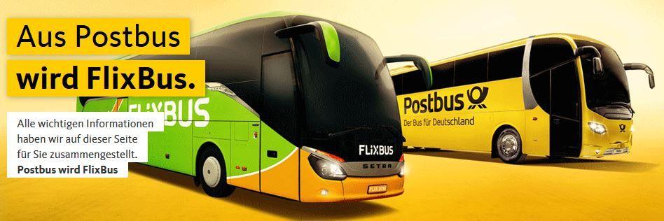 Postbus Info! Postbus von Flixbus übernommen!