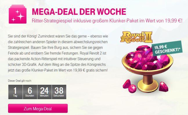 Nur für Telekom Kunden: Royal Revolt 2 großes Klunker Paket gratis (Wert 19,99€)