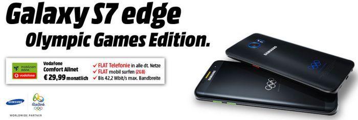 S7 Samsung Galaxy S7 Edge Olympic Games Edition + Samsung Gear Fit 2 + Vodafone Comfort Allnet Flat inkl. 2GB für 24,99€/Monat