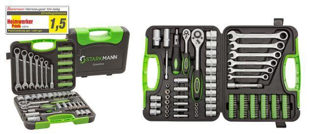 STARKMANN Greenline   104 Teile Steckschlüssel & Gabelschlüssel Set für 34,99€ (statt 50€)